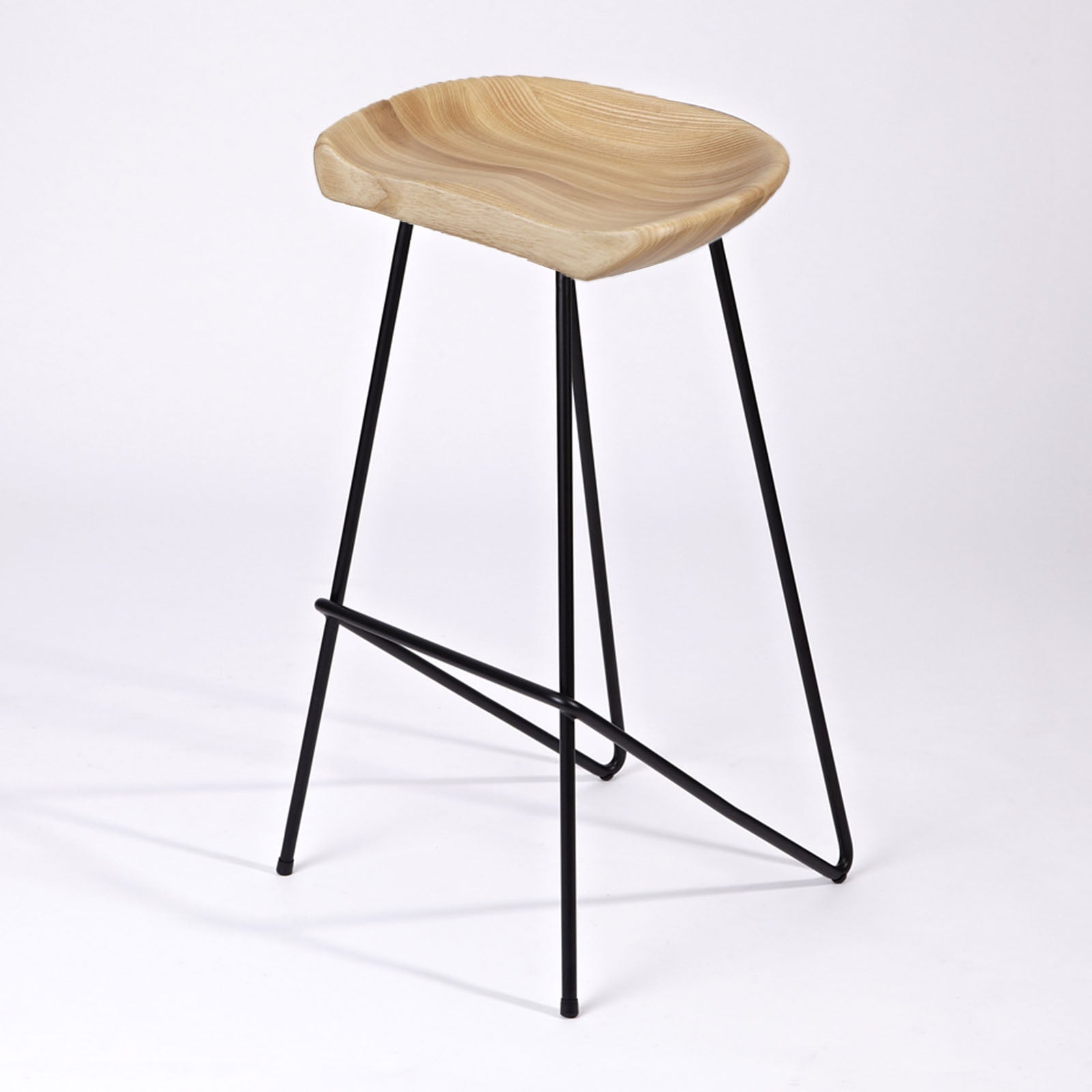 Solid Wood Bar Stool WS-034E-Bleg