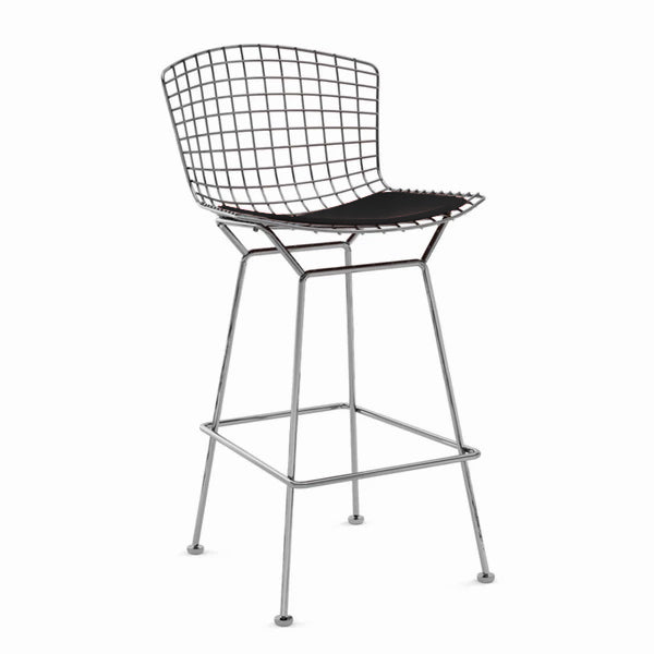 Wire Bar Stool & genuine leather cushion BP8601-CR