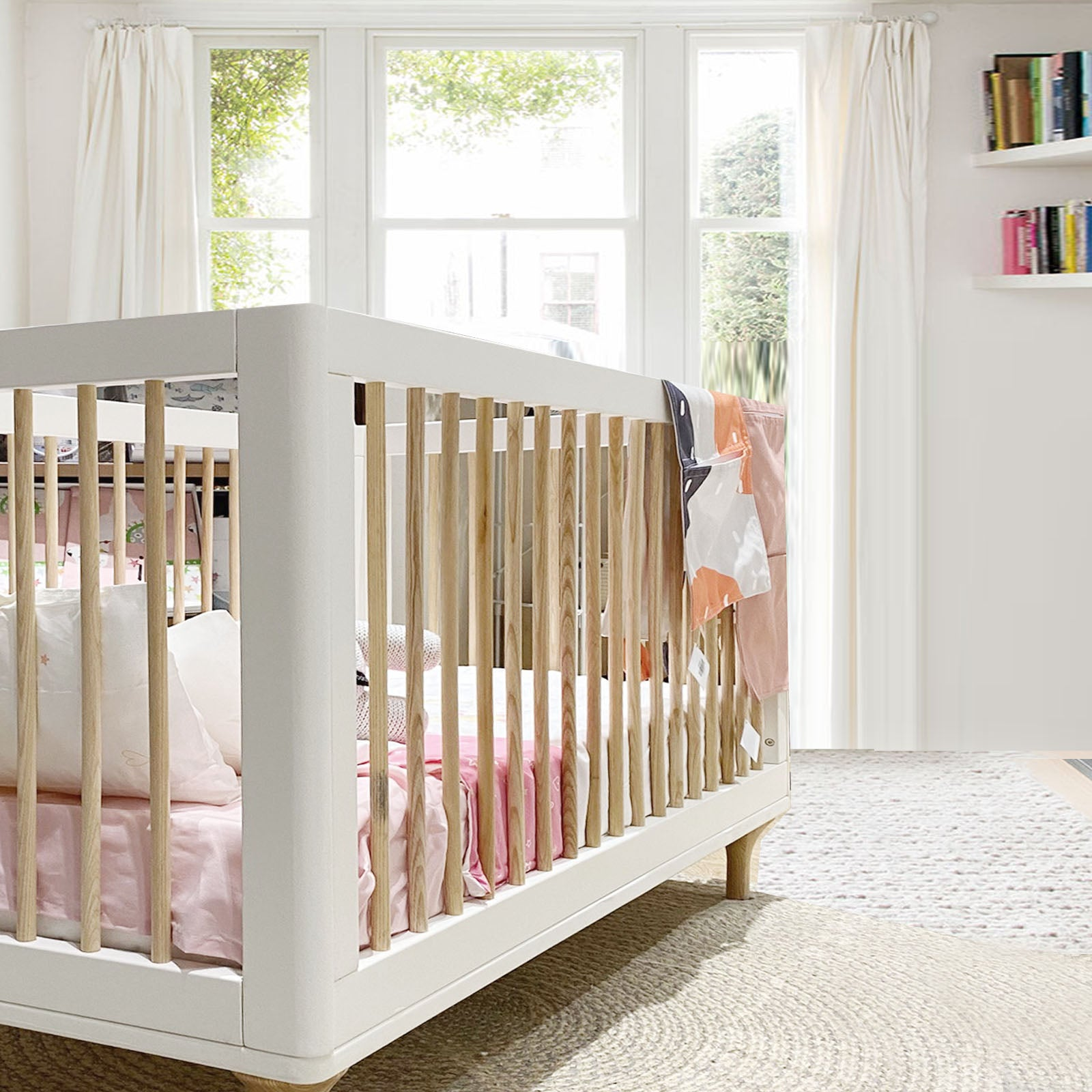 Pre-Order 30 days delivery  Baby Crib ET-Y003-Wh+Nat