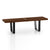 Retro Solid Wood Bench/table 122cm WS-028B-W - ebarza