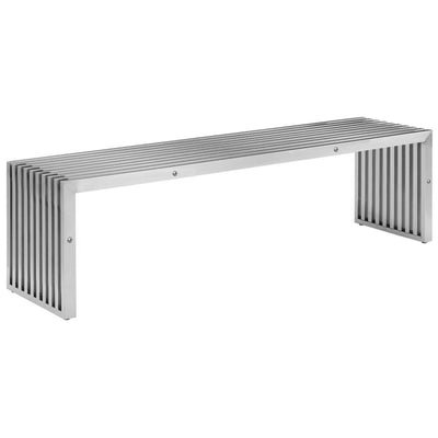 Mid Century Stainless Bench PSH-48-C