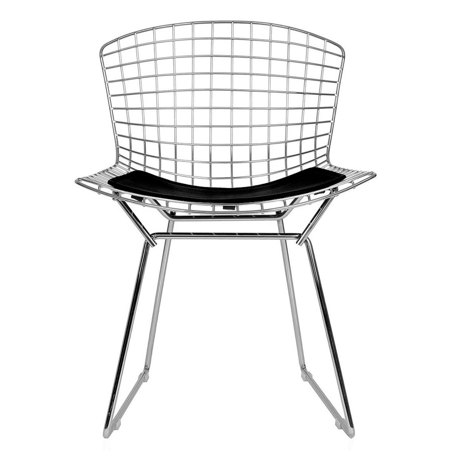 Wire Bar Stool & genuine leather cushion BP8601-CR - ebarza