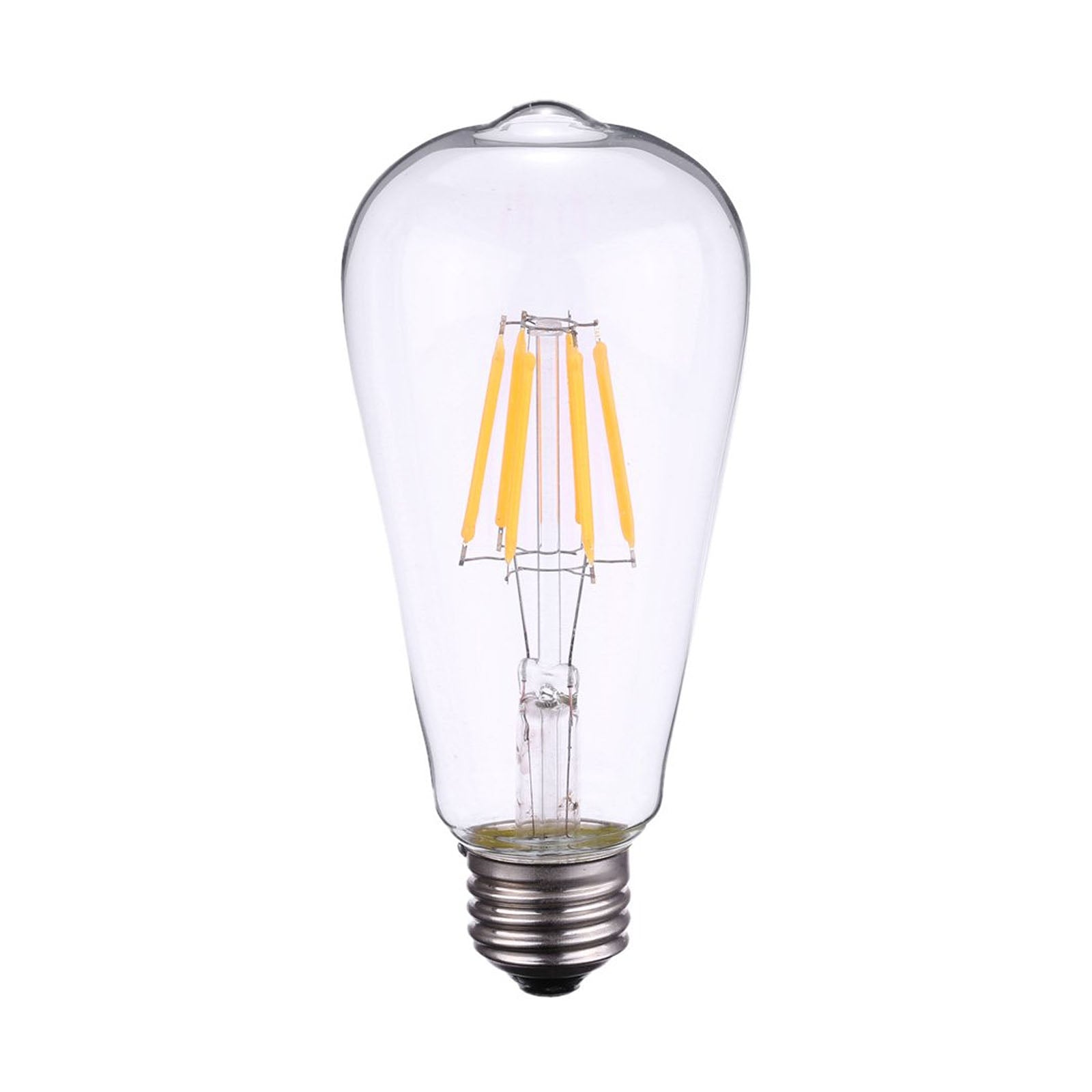Set of 6 LED E27 Vintage bulbs ST64-6W