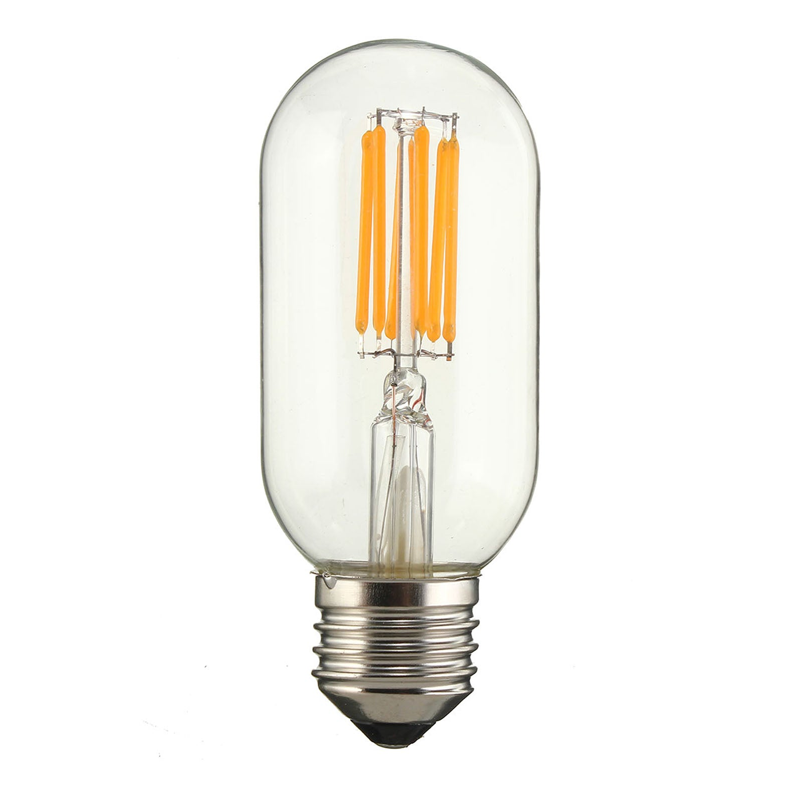 Set of 6 LED E27 Vintage bulbs T45-6W