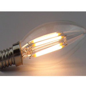 Set of 6 LED E14 Vintage bulbs C35-6W