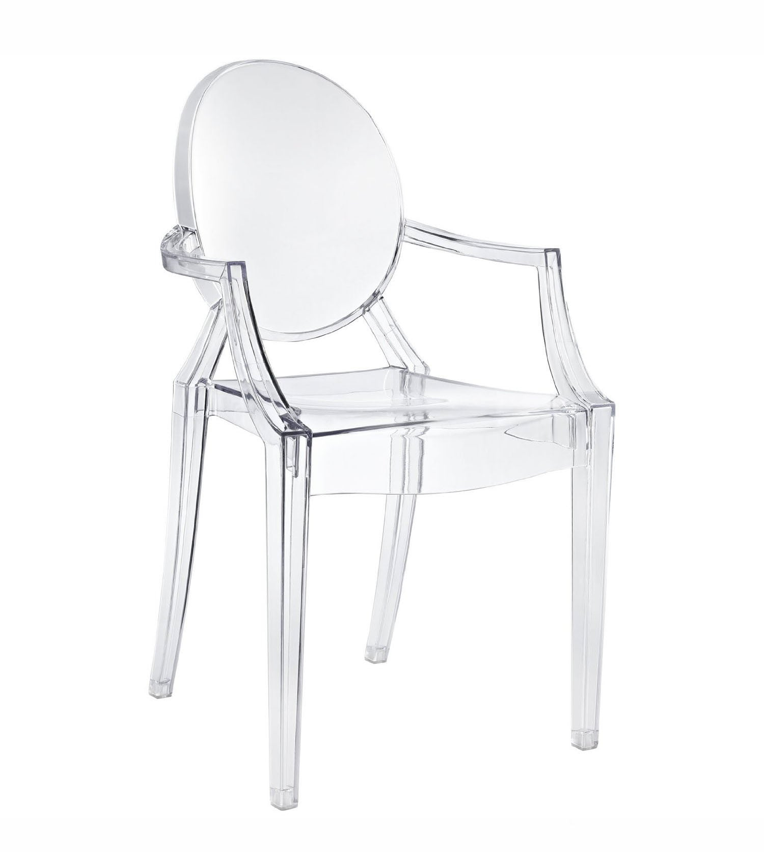 Pre-Order 60 days Delivery Acrylic Kristal Clear Arm Chair KGT0004-PC-099 - ebarza