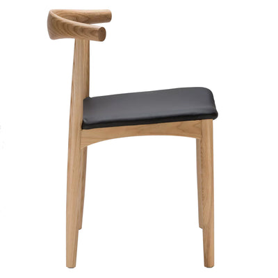Chair - Dining Chair Solid Ash Wood And Genuin Leather HE 00422N