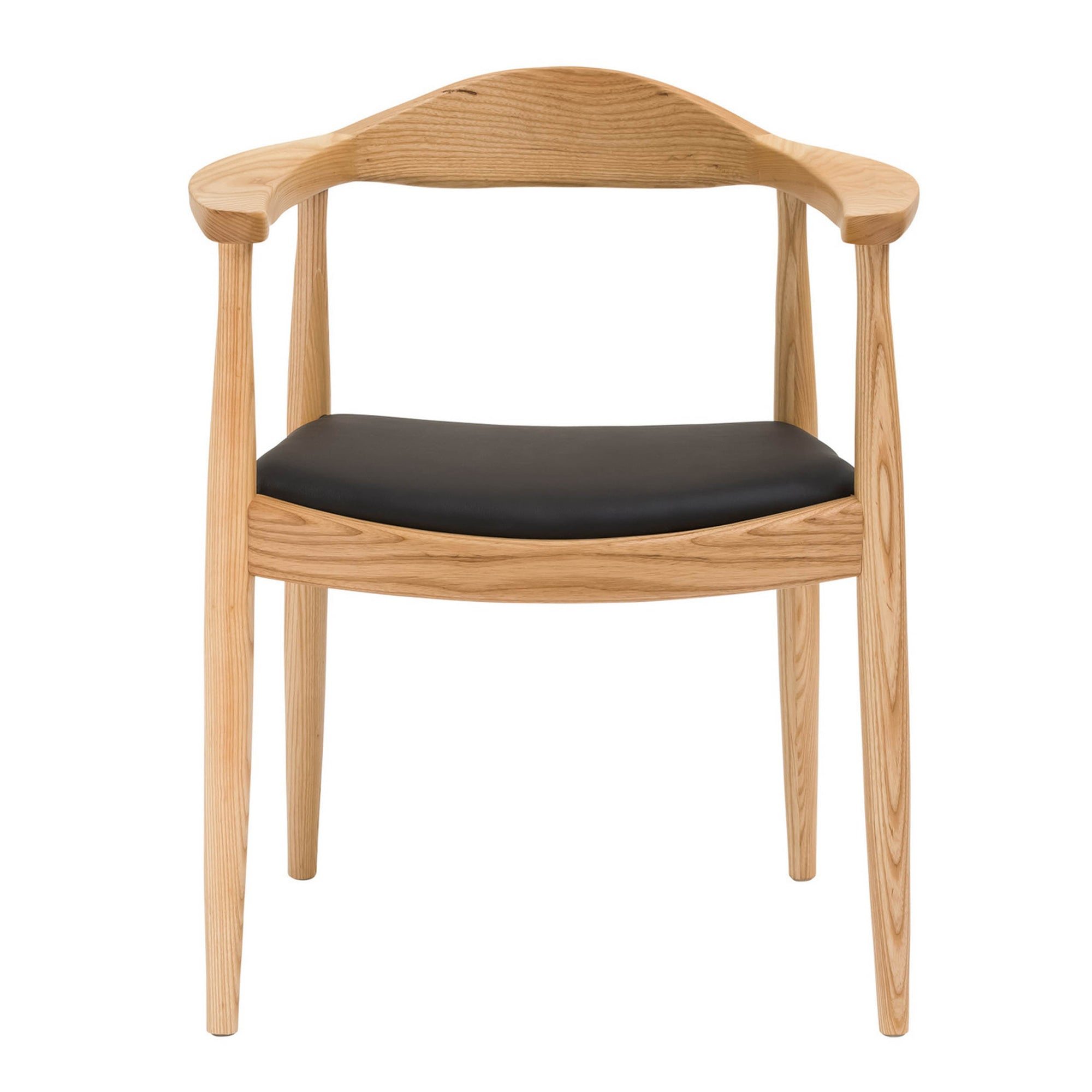 Chair - Dining Chair Solid Ash Wood And Genuin Leather  HW 00322N