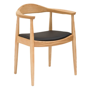 Dining Chair Solid ash wood and Genuin leather WS-037