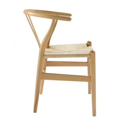 Chair - Dining Chair Solid Ash Wood And Natural Cord Seat HW 00425N