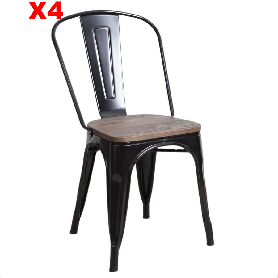 Dinning Chair with solid wood seat T01-TX0036BW - ebarza
