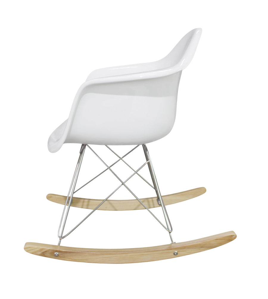 Chair - Rocking Chair-White FiberGlass MSR0150