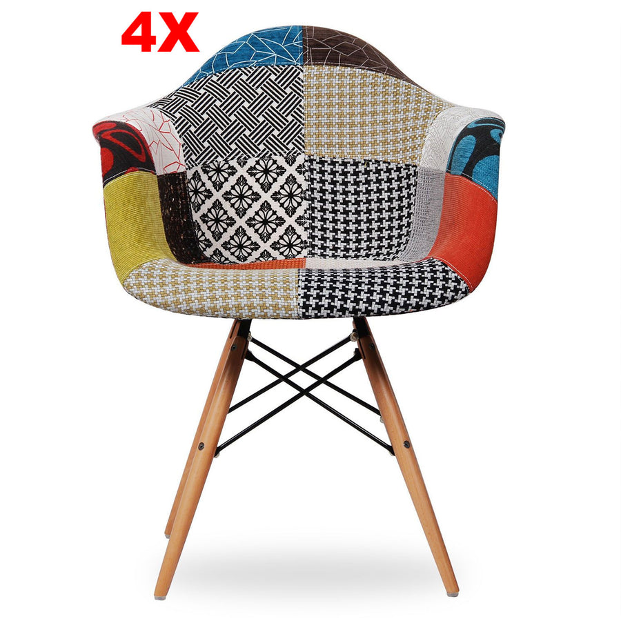 Chair - Set Of 4 Dining Chair -Fabric- MS0029FNPR