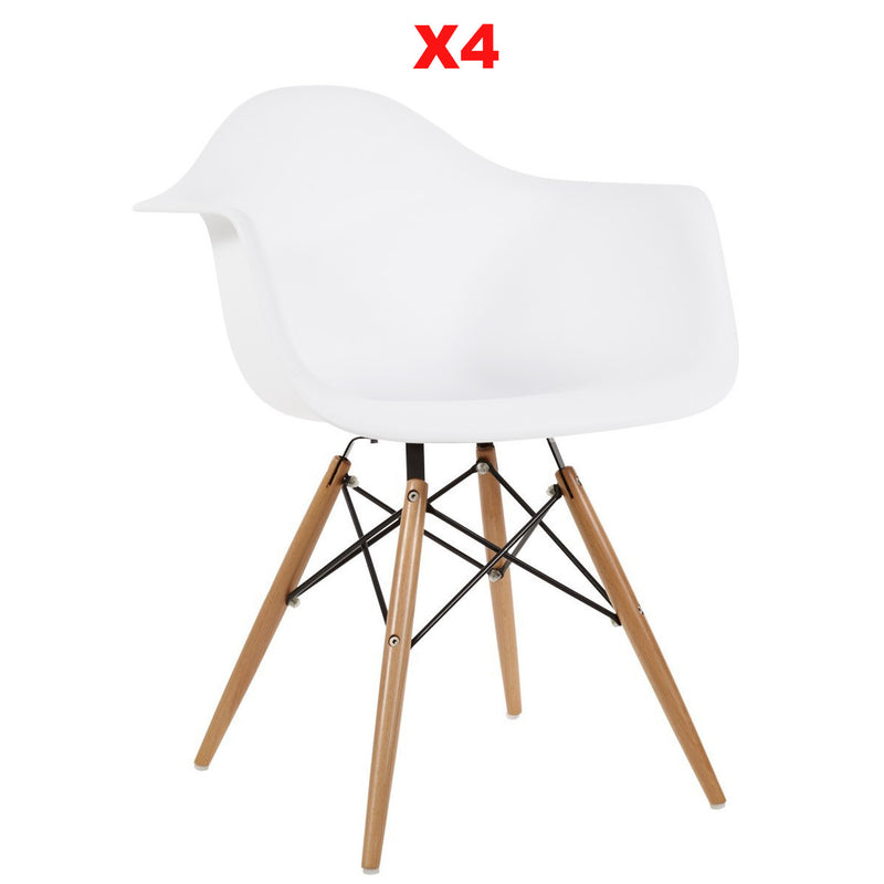 Chair   Set Of 4 Dining Chair  Plastic  MS0029Pr