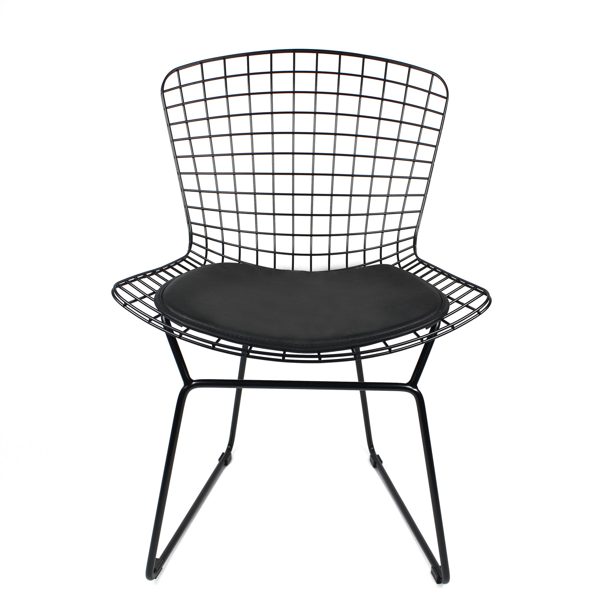 Chair - Wire Chair& Genuin Leather Cushion BP8020-B