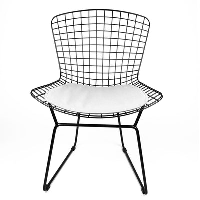 Chair - Wire Chair&Genuin Leather Cushion BP8020-BW