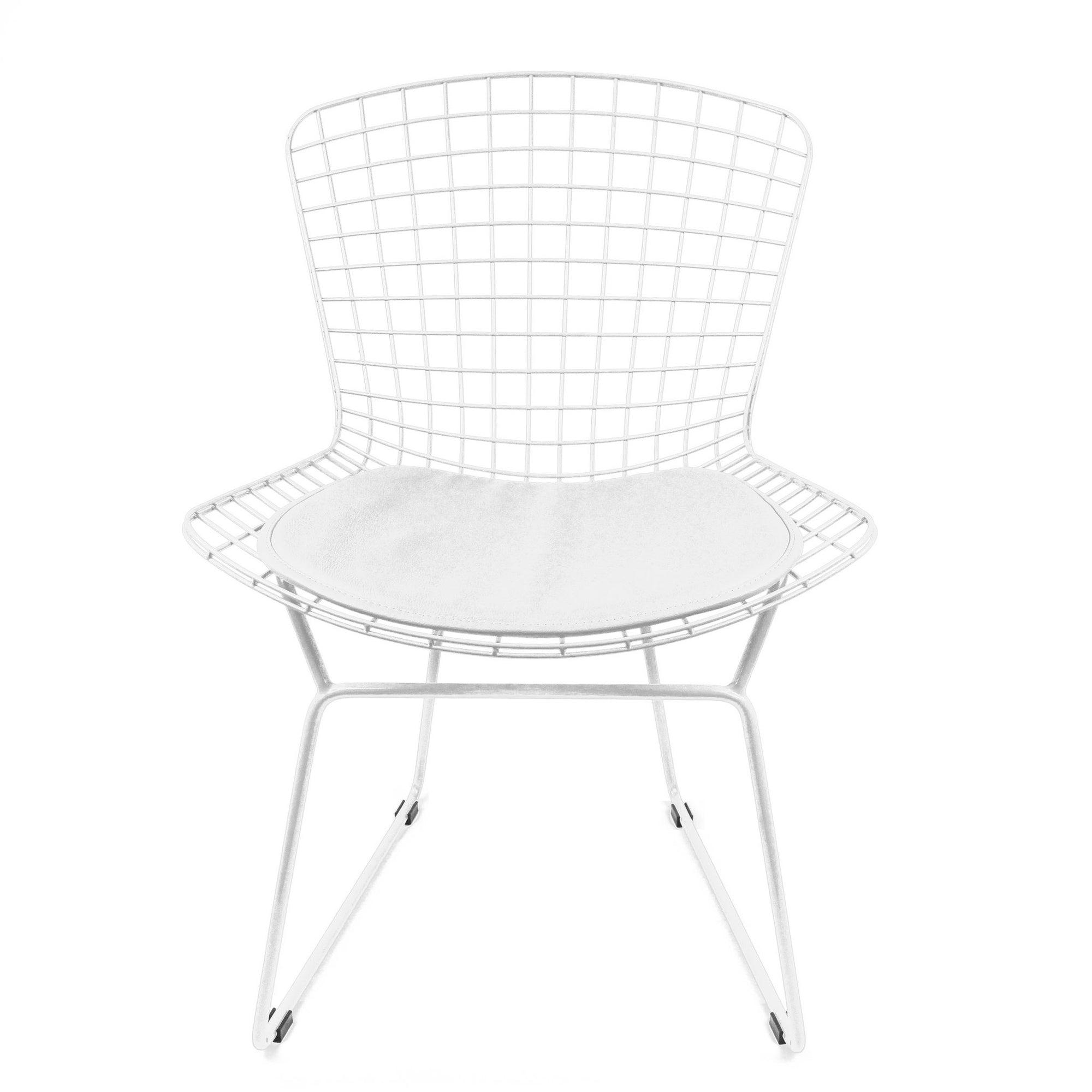 Chair - Wire Chair&Genuin Leather Cushion BP8020-W