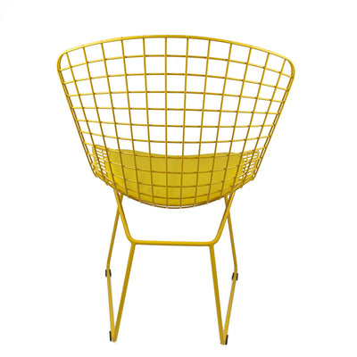Chair - Wire Chair&Genuin Leather Cushion BP8020-Y