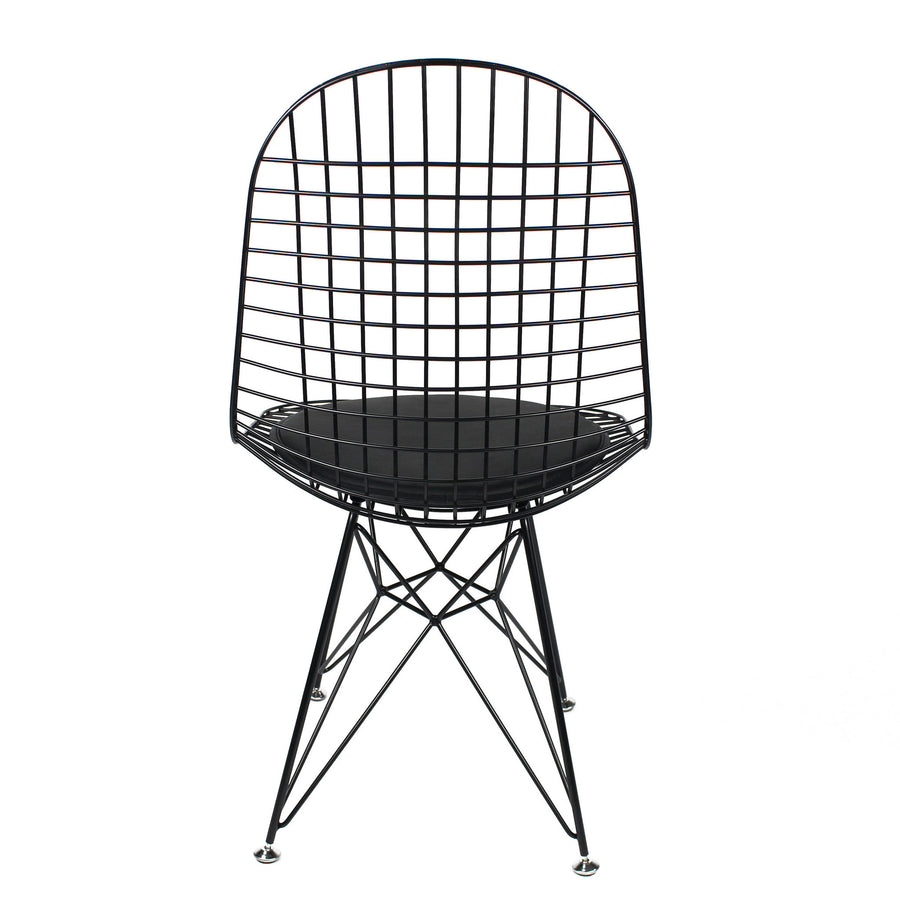 Chair - Wire Chair & Leather Cushion  BP8021-B