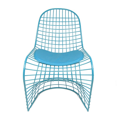 Chair - Wire Chair & Leather Cushions  BP8018-BL