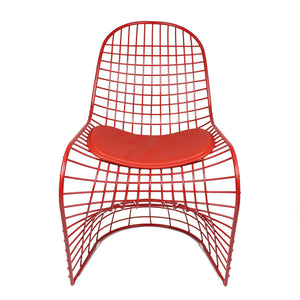 Wire Chair & Leather Cushions  BP8018-R