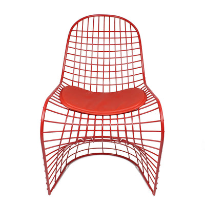 Chair - Wire Chair & Leather Cushions  BP8018-R