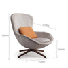Pre-Order 45 days delivery Vigo Swivel Lounge Chair  LC019