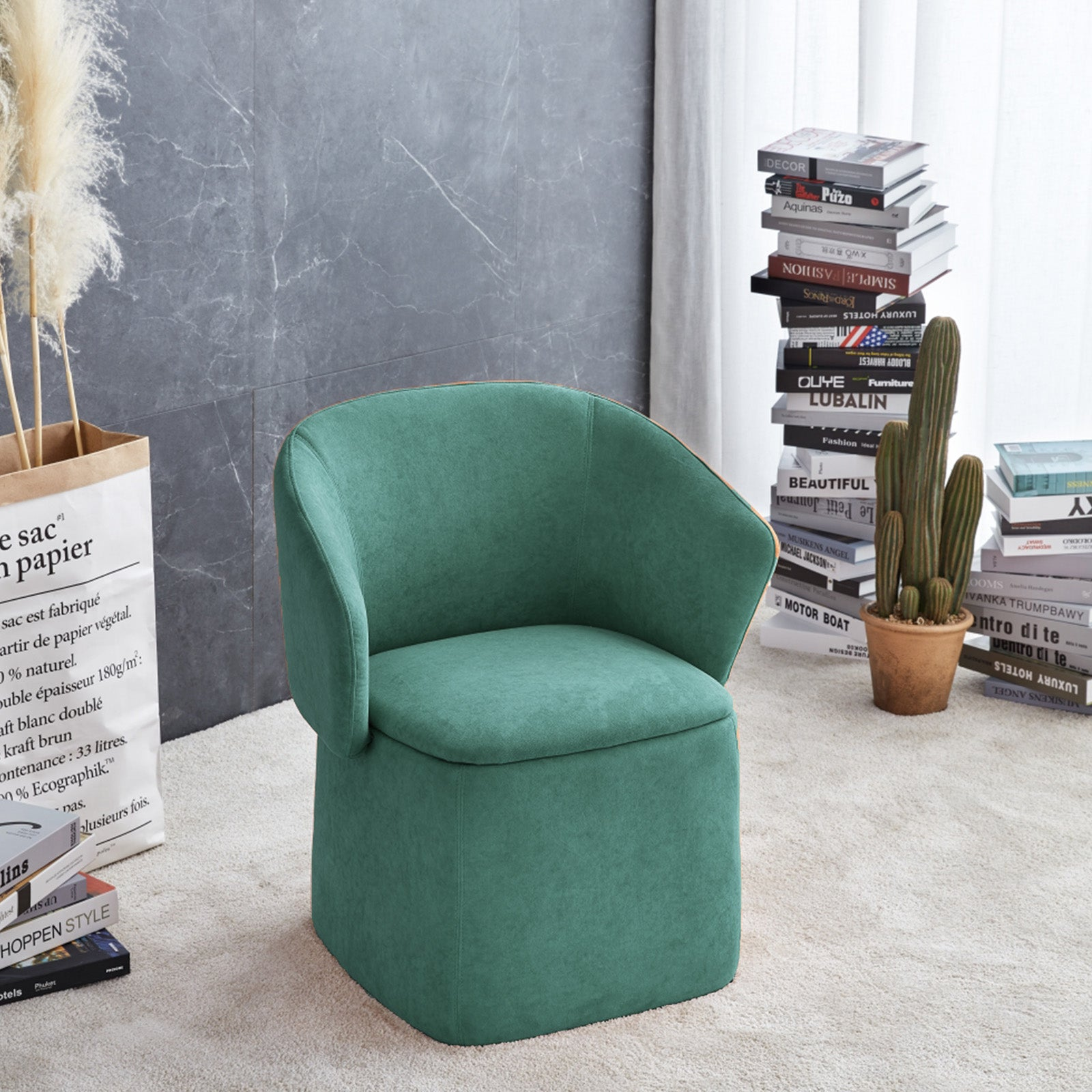 Flexa Chair/stool/storage  B2280-green -  كرسي / مقعد / تخزين فليكسا - Shop Online Furniture and Home Decor Store in Dubai, UAE at ebarza