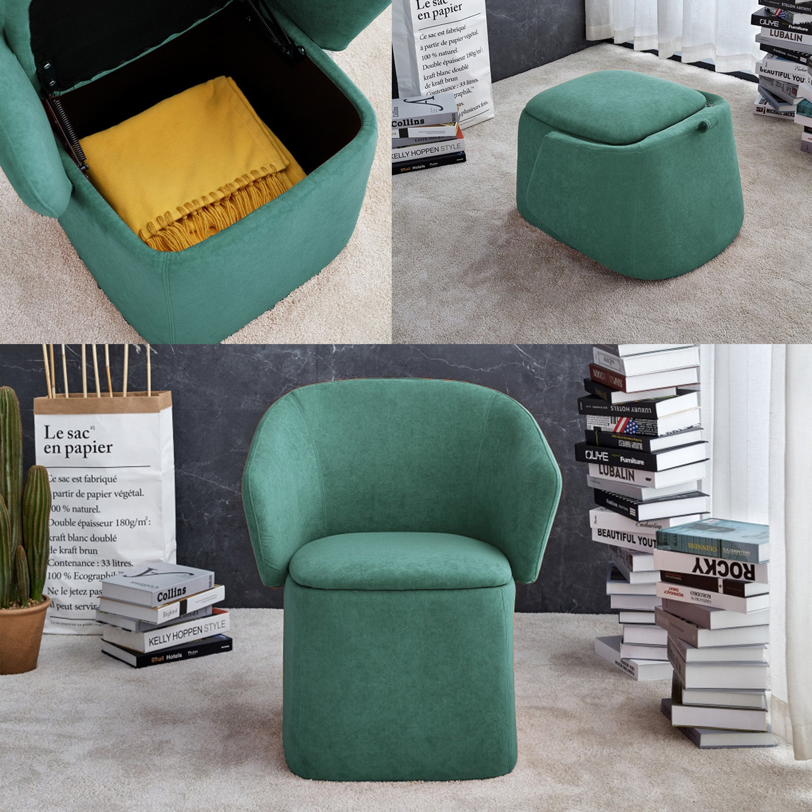 Flexa Chair/stool/storage  B2280-green
