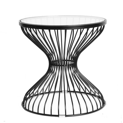 Coffee Table - Wire Table& Glass Top  BP7003-B