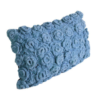 Blue Wool Cushion with filling DC0019 - ebarza