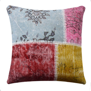 45X45 CM HALI X-Bursa Handmade over dyed CUSHION COVER  PWC0011