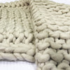 Handmade Chunky Throw Blanket  093A-004-Cream