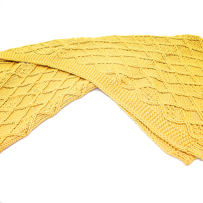 Handmade Chunky Throw Blanket  093A-001-Yellow