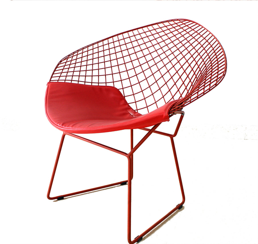 Wire Chair& genuine leather cushion  BP8019R - ebarza