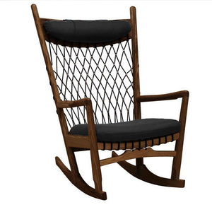 Solid Wood and Cord Lounge Chair  SF-019A-W