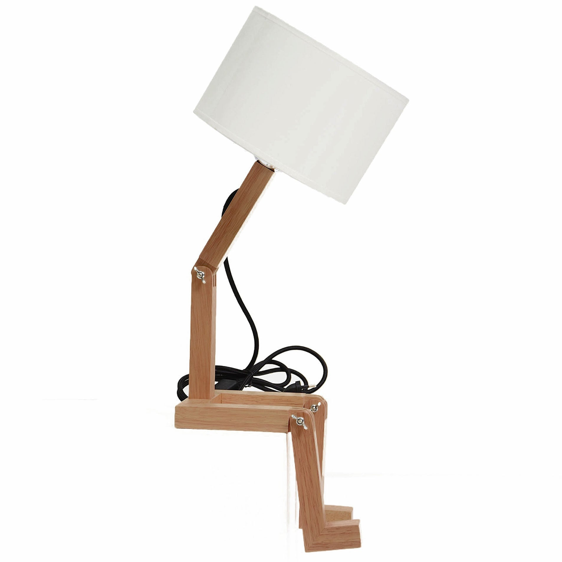 Mr.Lonley  Solid Wood table lamp BPMT01-W - ebarza