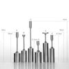 Set of 6 candle sticks AI0075-C - ebarza