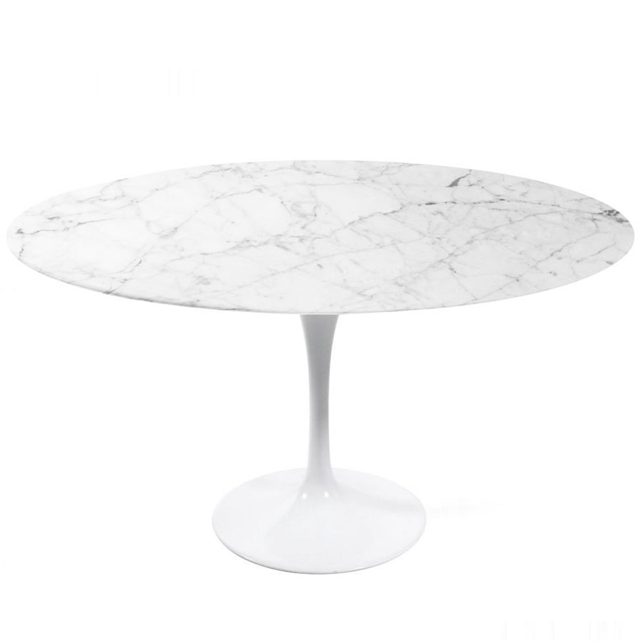 Natural Marble Round  Dining Table 120 cm  BP8077-120 - ebarza