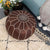 handmade genuine leather Moroccan style pouf Pouf morocco-brown -  بوف جلد طبيعي مصنوع يدويًا على الطراز المغربي - Shop Online Furniture and Home Decor Store in Dubai, UAE at ebarza