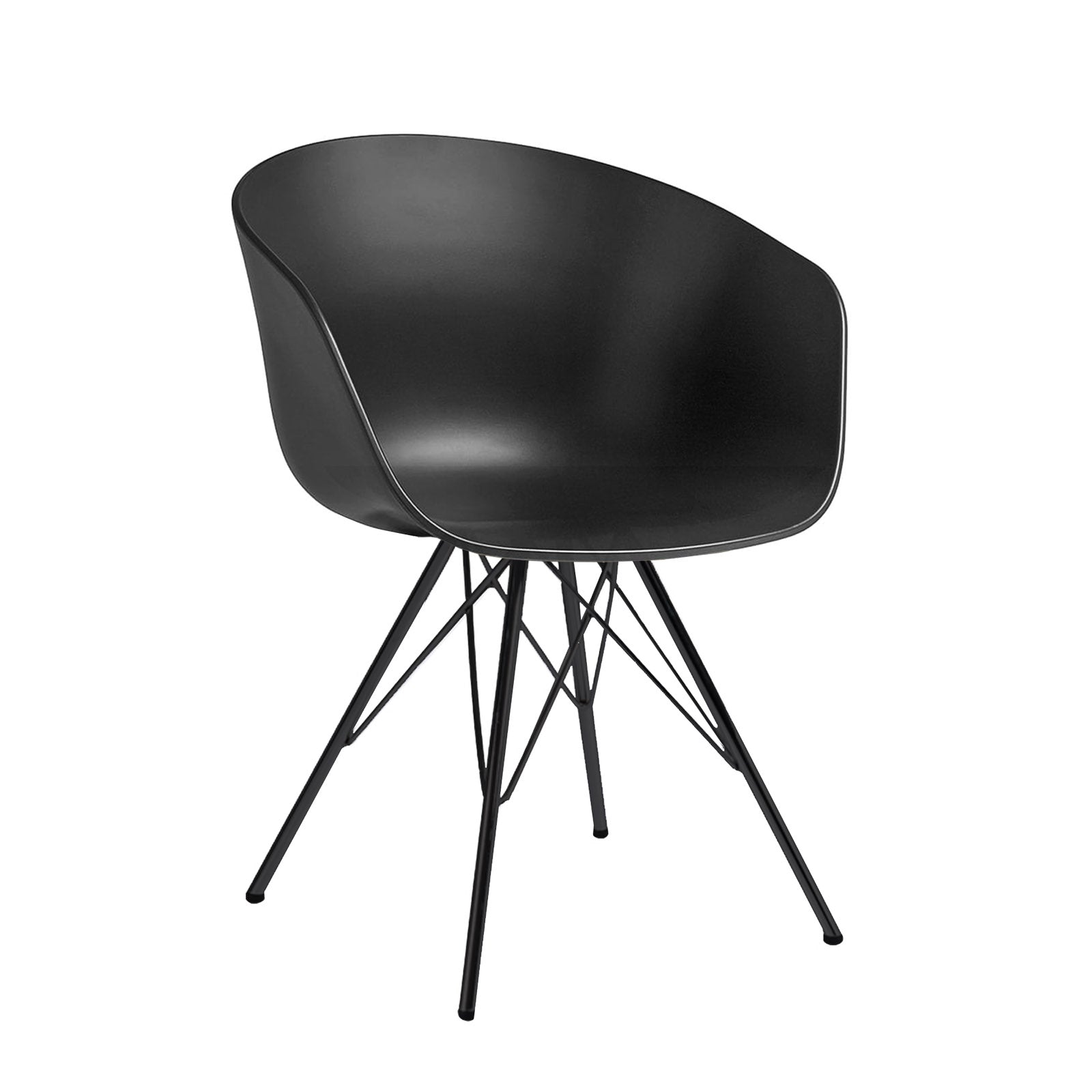 Dinning Chair- Plastic- MS0038-M+CMON-035LEG -  كرسى سفرة بلاستيك - Shop Online Furniture and Home Decor Store in Dubai, UAE at ebarza