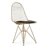 Wire Chair & leather Cushion  BP8021-G