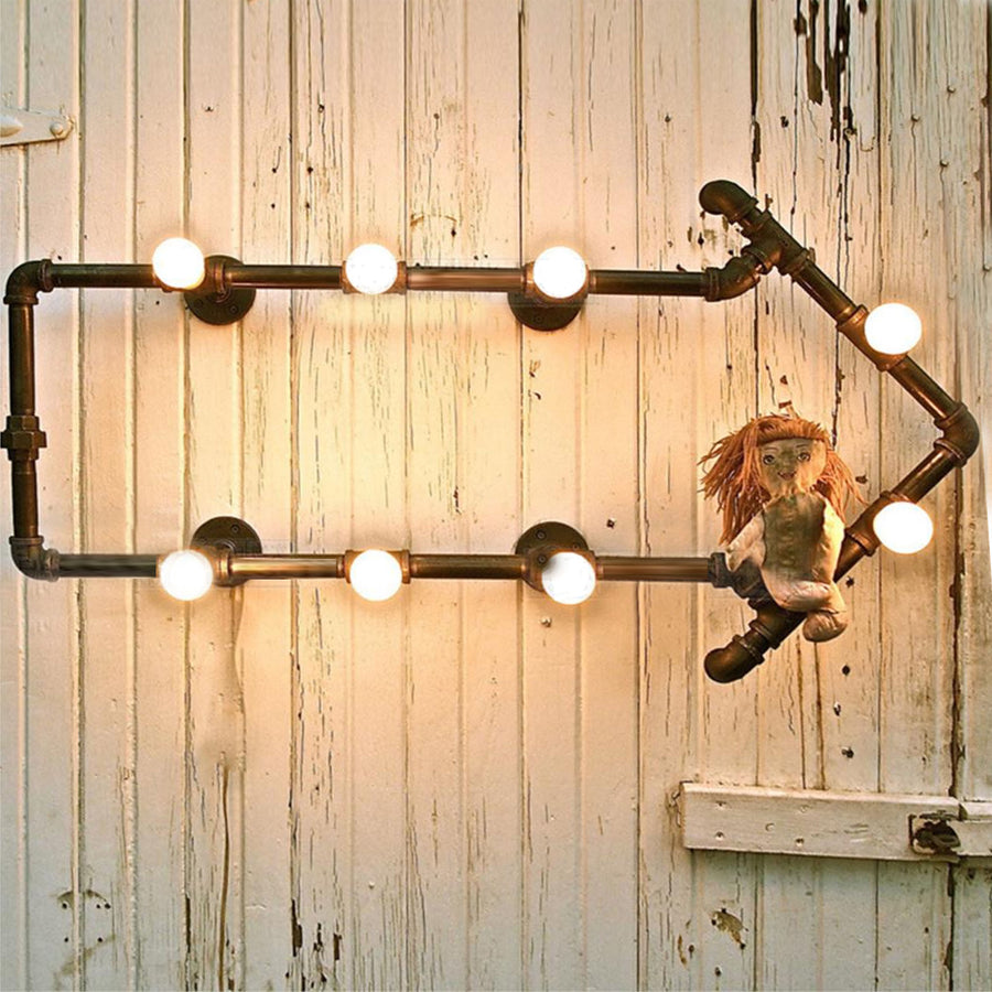 8 Heads Arrow Pipes Industrial Wall  Lamp  CY-BD-048 - ebarza