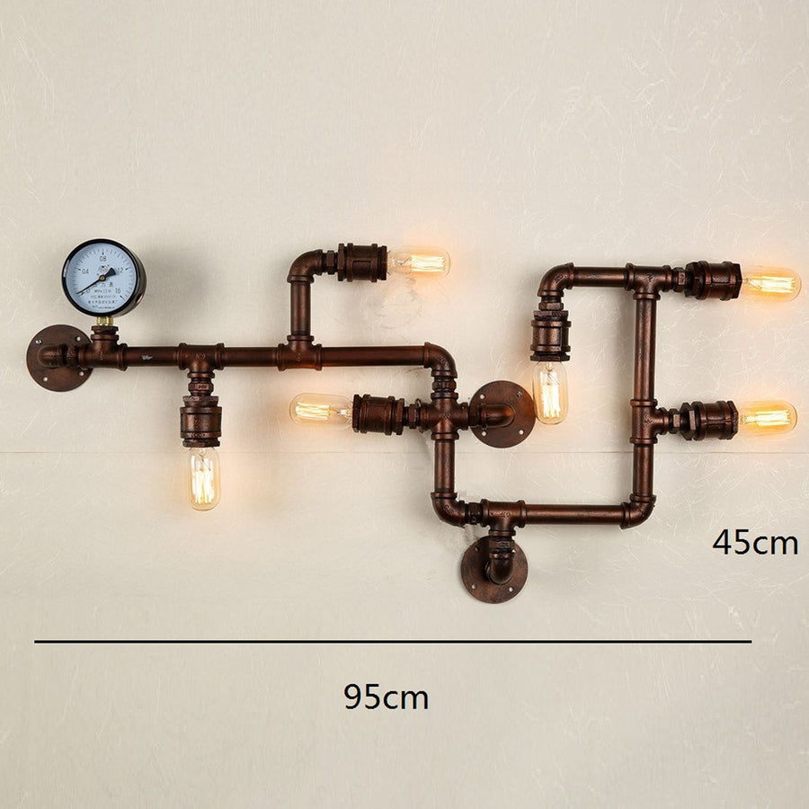 6 heads Industrial Rustic pipe  Wall lamp  CY-BD-045 - ebarza