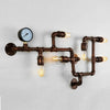 6 heads Industrial Rustic pipe  Wall lamp  CY-BD-045