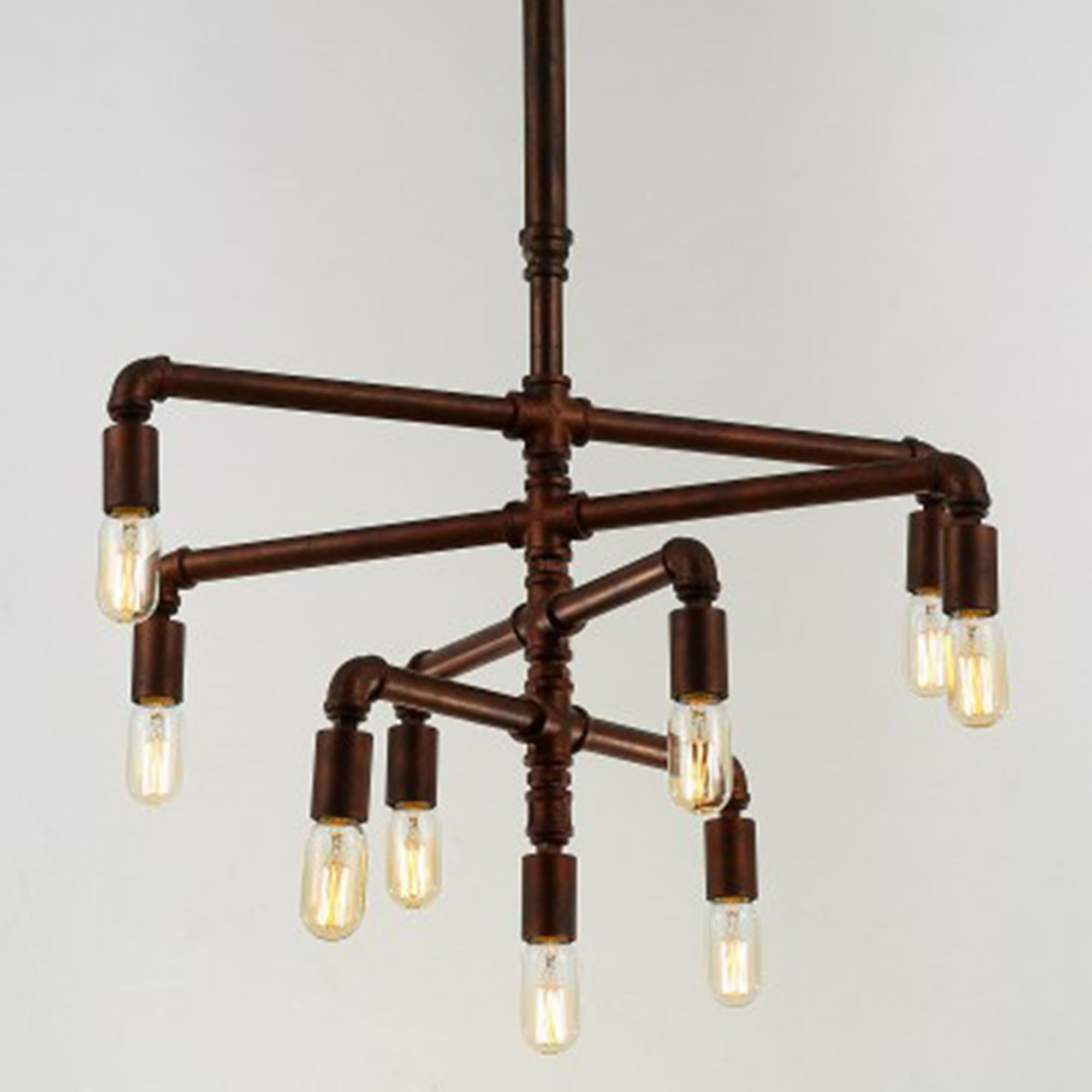 9 heads Vintage Industrial Pipes pendant  Lamp  CY-DD-188 -  مصباح معلق من 9 رؤوس - Shop Online Furniture and Home Decor Store in Dubai, UAE at ebarza
