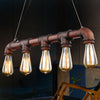 5 heads Industrial Rustic pipe  Chandelier  CY-DD-183