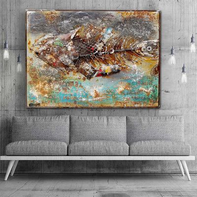 Handcrafted  metal Art Painting  120X90 cm SOAP024