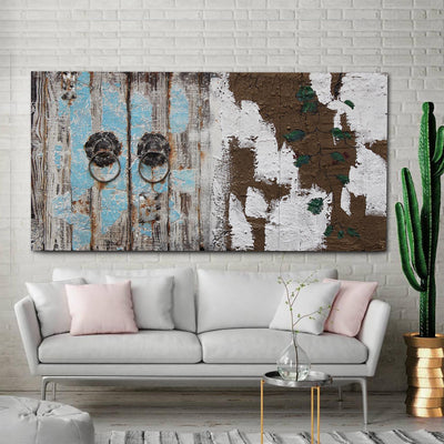Handcrafted  metal and wood Art Painting   140X70 cm SOAP017 - ebarza