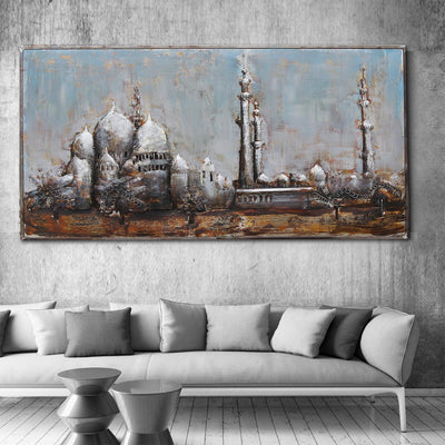 Handcrafted  metal Art Painting  160X80cm SOAP007